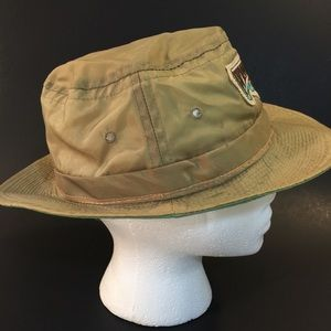 Town Talk Accessories - Vintage Wimbledon Bucket Hat Khaki Nylon 26dfdcd670d